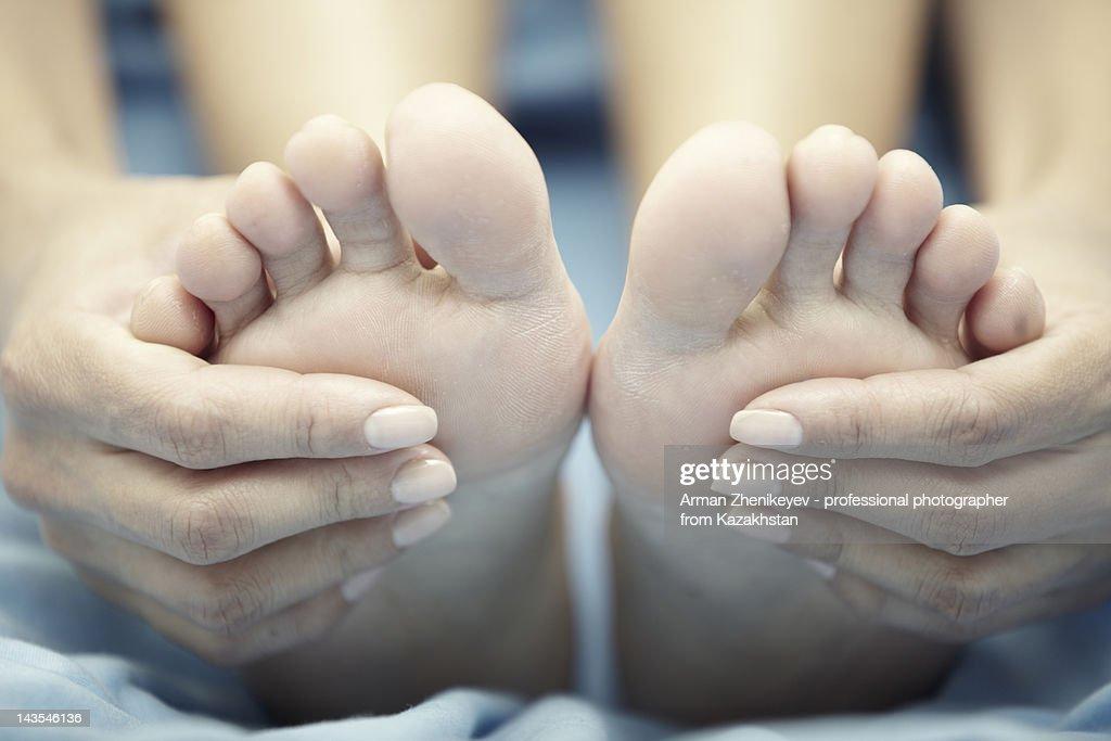 Foot massage : Stock Photo