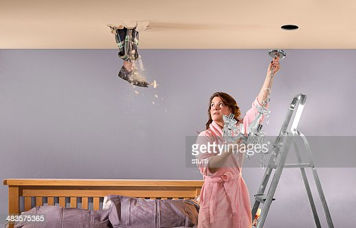 foot through ceiling