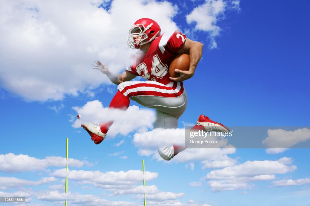 Footbal Player Making Fantastic Run : Stock Photo
