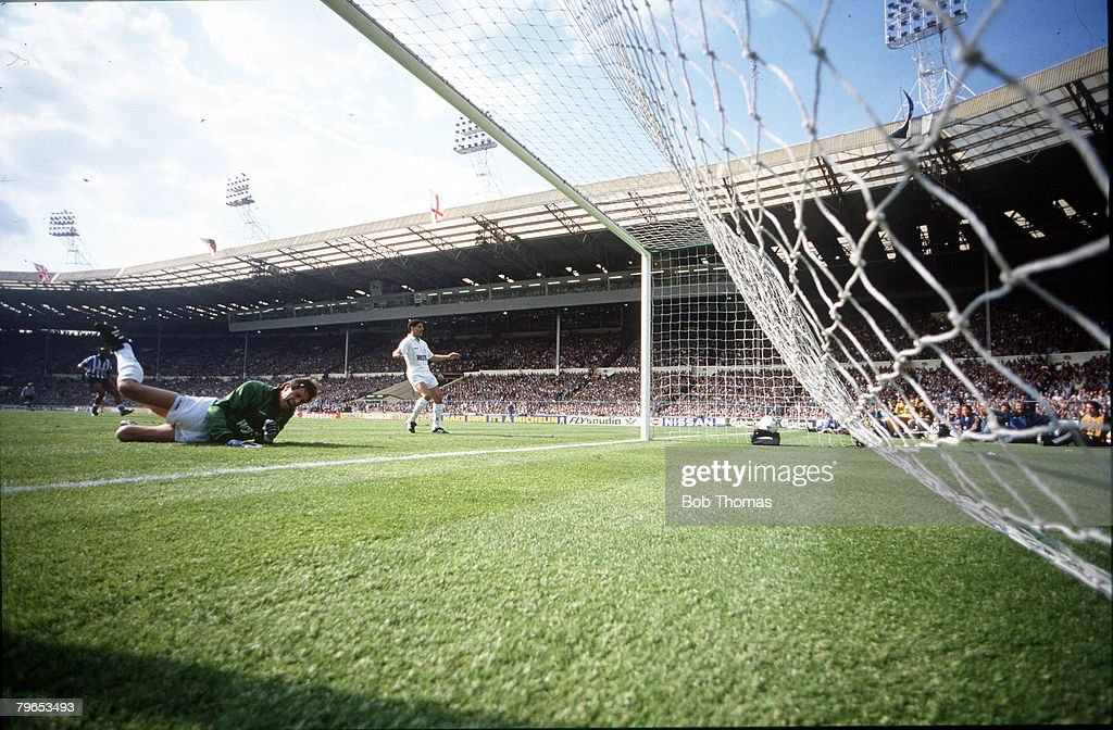 Football 16th May 1987 FA Cup Final Wembley Coventry City 3 v Tottenham Hotspur 2 aet Tottenham Hotspur goalkeeper Ray Clemence is left stranded by a...