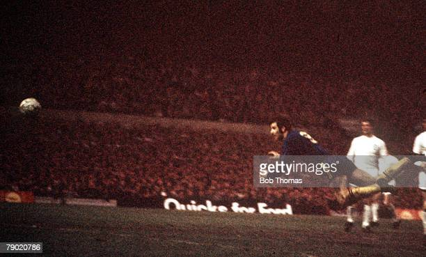 Football 1970 FA Cup Final Replay Old Trafford 29th April Chelsea 2 v Leeds United 1 Chelsea's Peter Osgood scores his side's first goal with a...