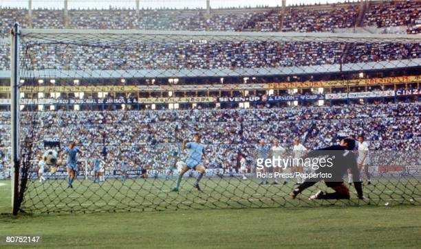 Football 1970 World Cup Finals Guadalajara Mexico 11th June Group 3 England 1 v Czechoslovakia 0 England's Allan Clarke strikes his penalty past...