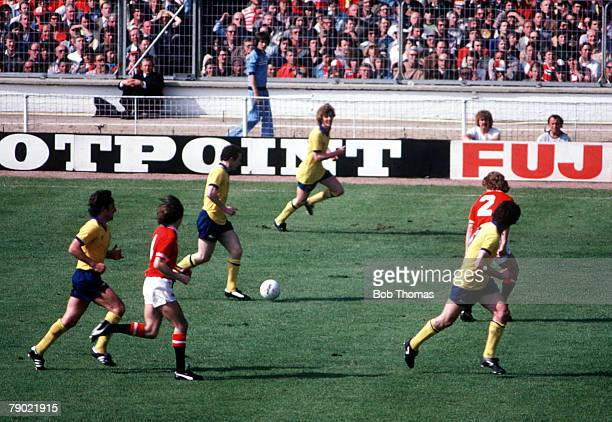 Football 1979 FA Cup Final Wembley Arsenal 3 v Manchester United 2 12th May Arsenal's Liam Brady runs with the ball