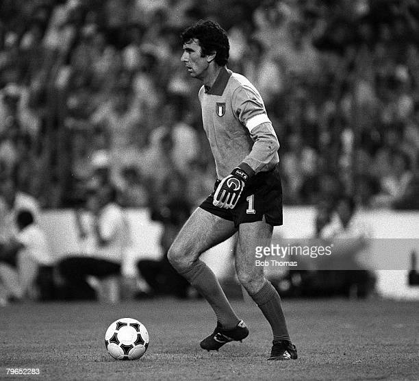 Football 1982 World Cup Final Madrid Spain 11th July 1982 Italy 3 v West Germany 1 Italy's goalkeeper Dino Zoff with the ball