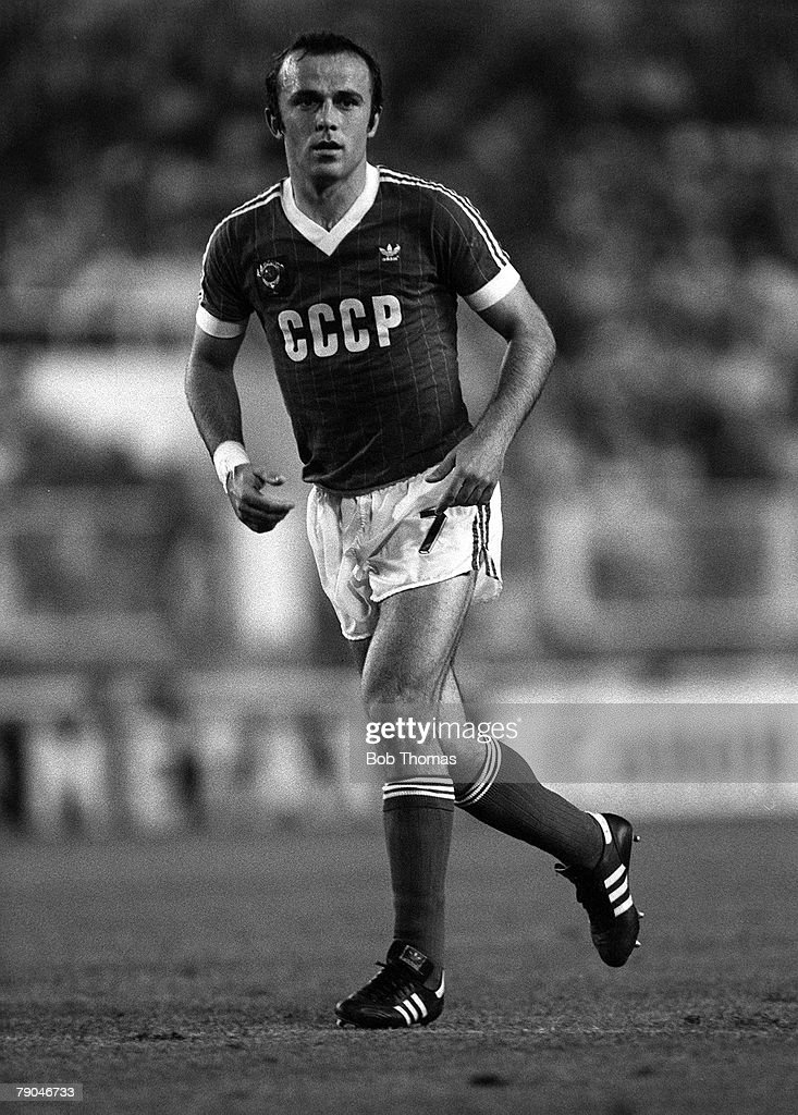 Football 1982 World Cup Finals Malaga Spain 19th June 1982 USSR 3 v New Zealand 0 USSR's Ramaz Shengalia during the group F match