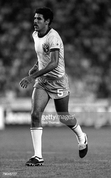 Football 1982 World Cup Finals Seville Spain 23rd June 1982 Brazil 4 v New Zealand 0 Brazil's Toninho Cerezo during their Group F match