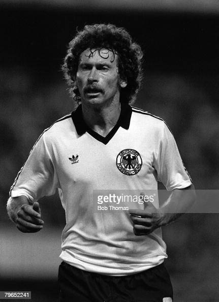 Football 1982 World Cup Semi Final Seville Spain 8th July 1982 West Germany 3 v France 3 aet West Germany's Paul Breitner