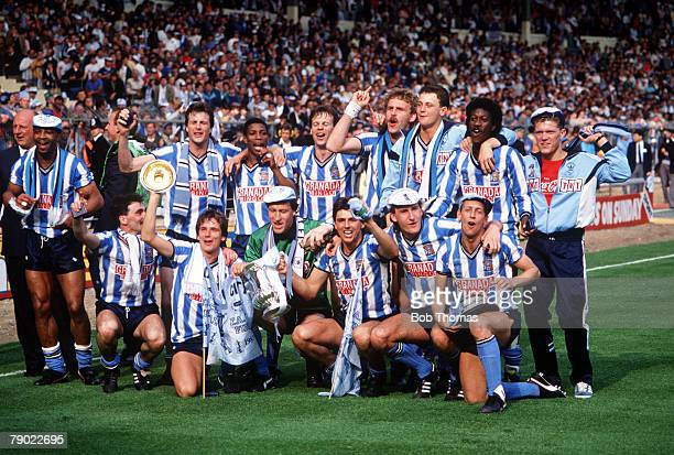 Football 1987 FA Cup Final Wembley 16th May Coventry City 3 v Tottenham Hotspur 2 Coventry team pose for a group photograph with the FA Cup trophy