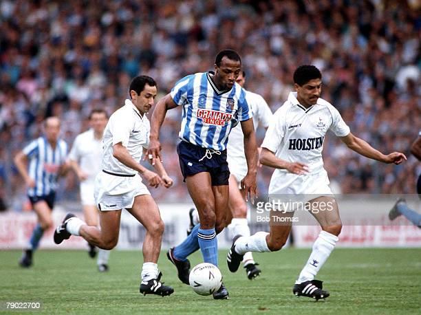 Football 1987 FA Cup Final Wembley 16th May Coventry City 3 v Tottenham Hotspur 2 Coventry's Cyrille Regis moves away fron Tottenham's Osvaldo...