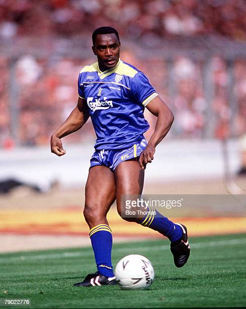 Football 1988 FA Cup Final Wembley 14th May Wimbledon 1 v Liverpool 0 Wimbledon's Laurie Cunningham on the ball