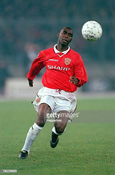 Football 1999 UEFA Champions League SemiFinal Second leg 21st April Turin Juventus 2 v Manchester United 3 Manchester United's Andy Cole who scored...