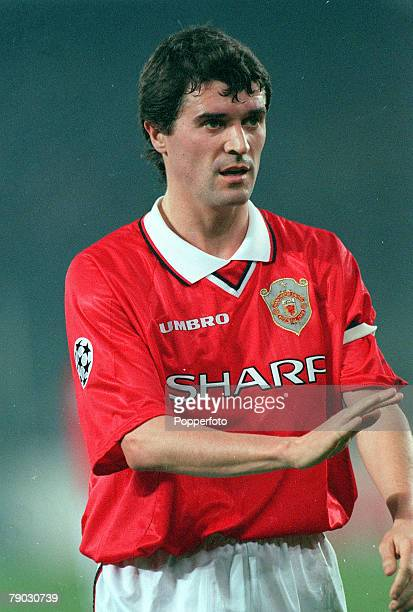 Football 1999 UEFA Champions League SemiFinal Second leg 21st April Turin Juventus 2 v Manchester United 3 Manchester United's Roy Keane who scored...