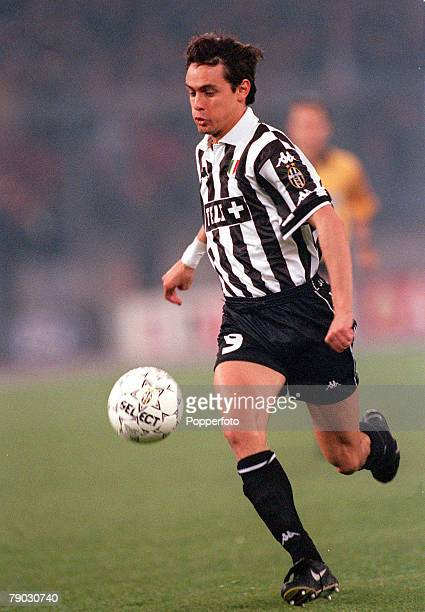 Football 1999 UEFA Champions League SemiFinal Second leg 21st April Turin Juventus 2 v Manchester United 3 Juventus' Filippo Inzaghi scorer of both...