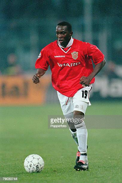 Football 1999 UEFA Champions League SemiFinal Second leg 21st April Turin Juventus 2 v Manchester United 3 Manchester United's Dwight Yorke who...