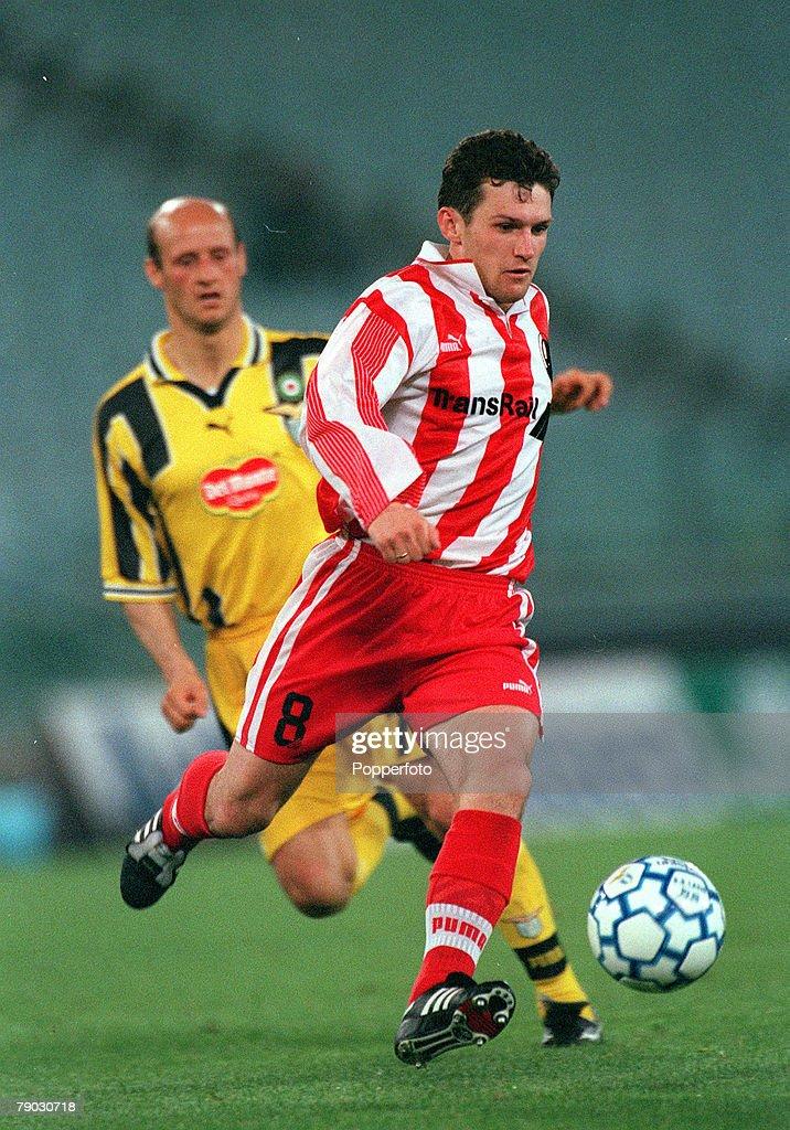 Football, 1999 UEFA Cup Winners Cup Semi-Final, Second leg, Lazio, 22nd April, 1999, Lazio 0 v Lokomotiv Moscow 0, Lokomotiv Moscow's Segei Guerenko