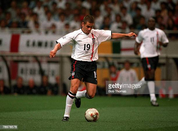 Football 2002 FIFA World Cup Finals Group F Saitama Japan 2nd June 2002 England 1 v Sweden 1 England's Joe Cole