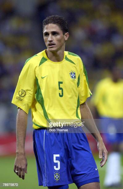 Football 2002 FIFA World Cup Finals Semi Final Saitama Japan 26th June 2002 Brazil 1 v Turkey 0 Edmilson of Brazil