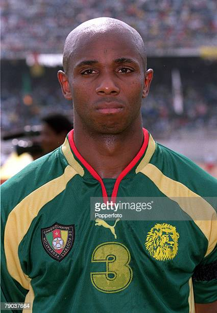Football 2002 World Cup Qualifier African Second Round Group A Yaounde 25th February 2001 Cameroon 1 v Zambia 0 Cameroons Bill Tchato