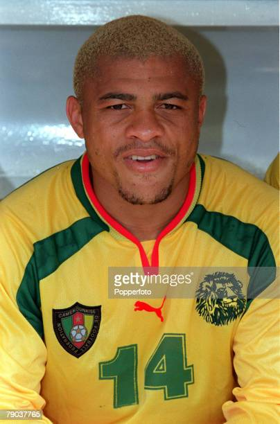 Football 2002 World Cup Qualifier African Second Round Group A Yaounde 25th February 2001 Cameroon 1 v Zambia 0 Cameroons Joel Epalle