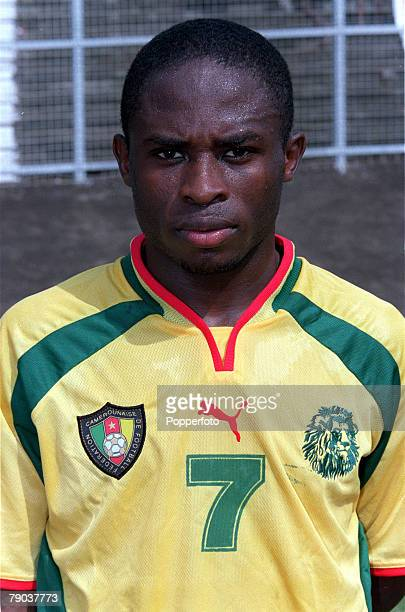 Football 2002 World Cup Qualifier African Second Round Group A Yaounde 25th February 2001 Cameroon 1 v Zambia 0 Cameroons Daniel Ngom Kome