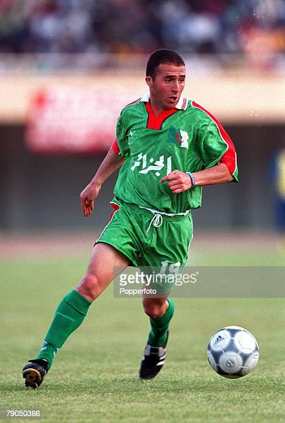 Football 2002 World Cup Qualifier African Second Round Group C 21st April 2001 Dakar Senegal Senegal 3 v Algeria 0 Algeria's Djamel Belmadi
