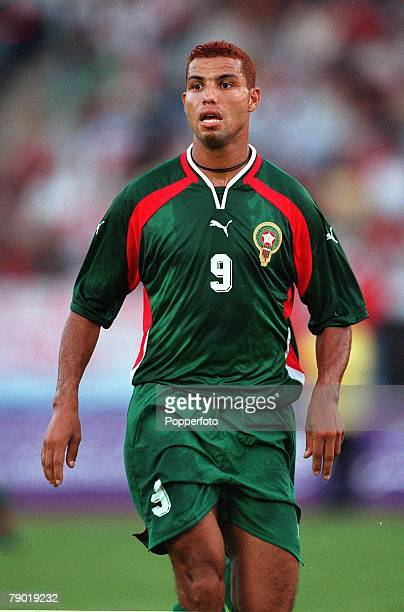 Football 2002 World Cup Qualifier African Second Round Group C 30th June 2001 Rabat Morocco 1 v Egypt 0 Morocco's Abdeljilil Hadda