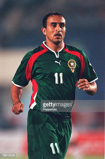 Football 2002 World Cup Qualifier African Second Round Group C 30th June 2001 Rabat Morocco 1 v Egypt 0 Morocco's Hassan Kachloul