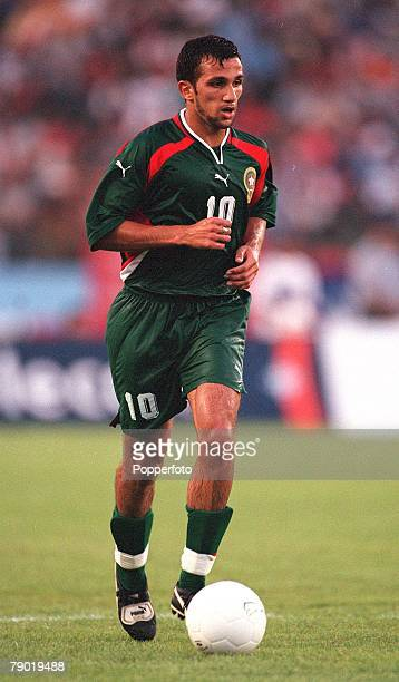 Football 2002 World Cup Qualifier African Second Round Group C 30th June 2001 Rabat Morocco 1 v Egypt 0 Morocco's Adil Ramzi