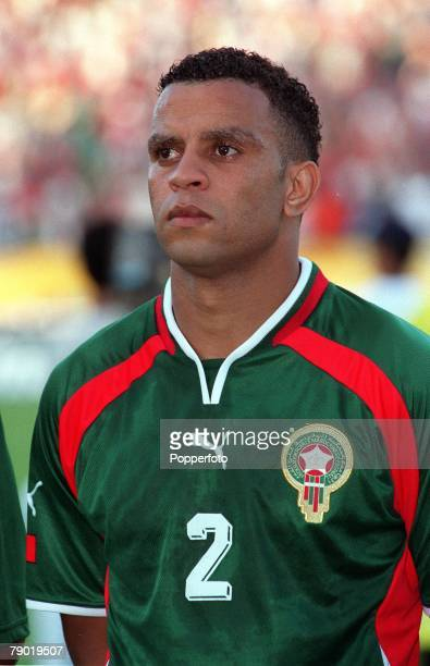 Football 2002 World Cup Qualifier African Second Round Group C 30th June 2001 Rabat Morocco 1 v Egypt 0 Morocco's Rachid Benmahmoud