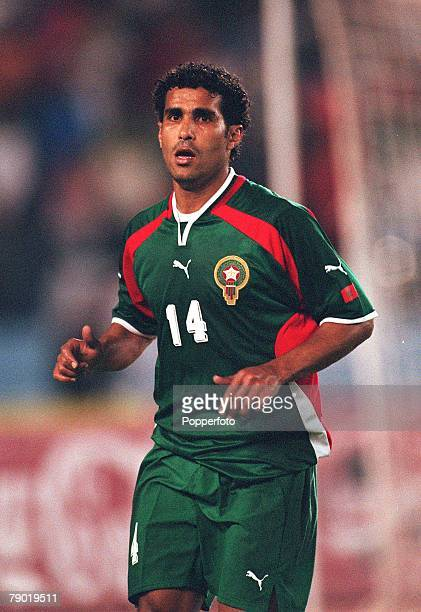 Football 2002 World Cup Qualifier African Second Round Group C 30th June 2001 Rabat Morocco 1 v Egypt 0 Morocco's Sallaheddine Bassir