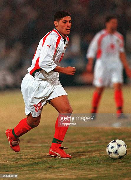 Football 2002 World Cup Qualifier African Second Round Group C Cairo 28th January 2001 Egypt 0 v Morocco 0 Morocco's Karim Zaza on the ball