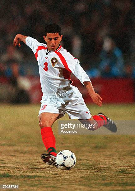 Football 2002 World Cup Qualifier African Second Round Group C Cairo 28th January 2001 Egypt 0 v Morocco 0 Morocco's Abed El karim El Hadry plays the...
