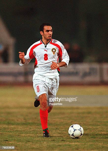 Football 2002 World Cup Qualifier African Second Round Group C Cairo 28th January 2001 Egypt 0 v Morocco 0 Egypts Said Sheba on the ball