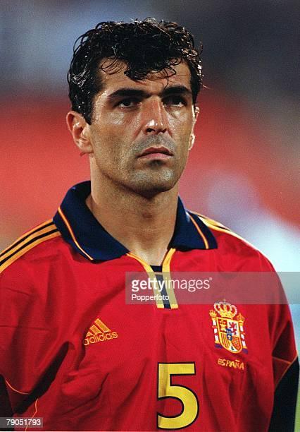 Football 2002 World Cup Qualifier Group 7 6th June 2001 Tel Aviv Israel 1 v Spain 1 Spain's Miguel Angel Nadal