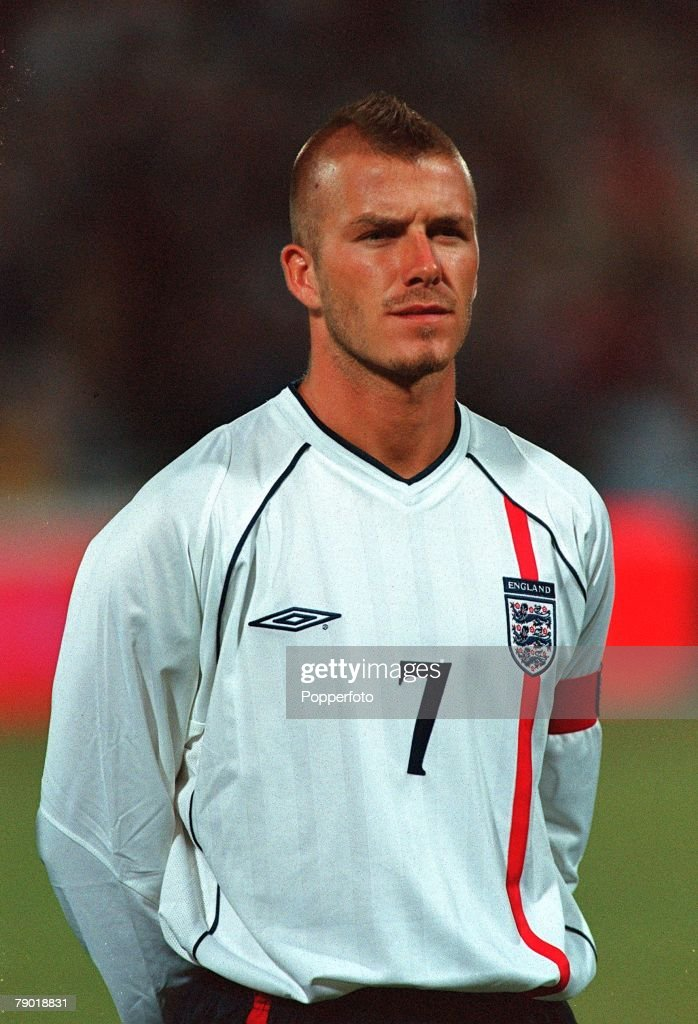 Football 2002 World Cup Qualifier Group 9 6th June 2001 Athens Greece 0 v England 2 England's captain David Beckham