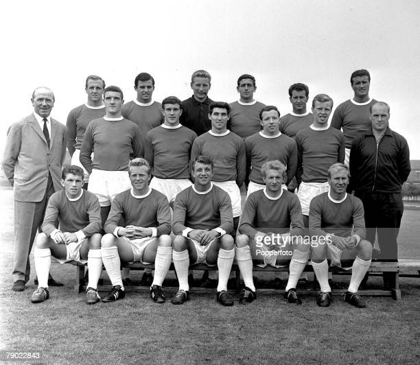 Football 27th May 1962 Manchester England Manchester United PreSeason Photocall Manchester United 1st Team Squad Back Row LR Maurice Setters Jimmy...