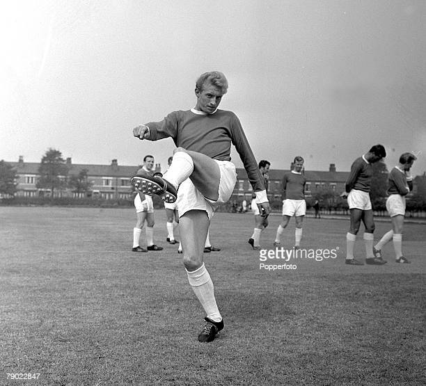 Football 27th May 1962 Manchester England Manchester United PreSeason Photocall A picture of Manchester Uniteds new signing Denis Law following...