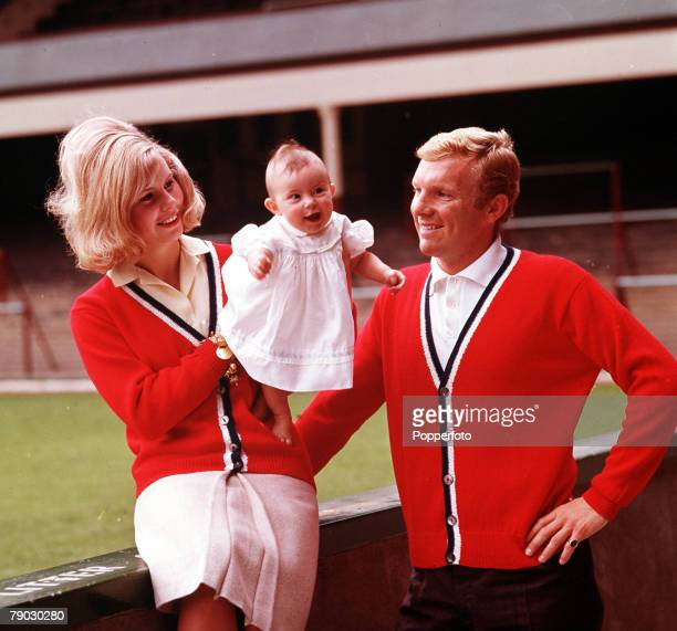 Football A picture of legendary West Ham United and England captain Bobby Moore and his wife Tina and their baby Roberta
