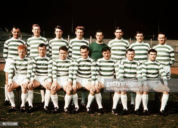Football A team group picture of Glasgow Celtic FC who went on to win the European Cup against Inter Milan The Picture shows Back row Willie O'Neill...