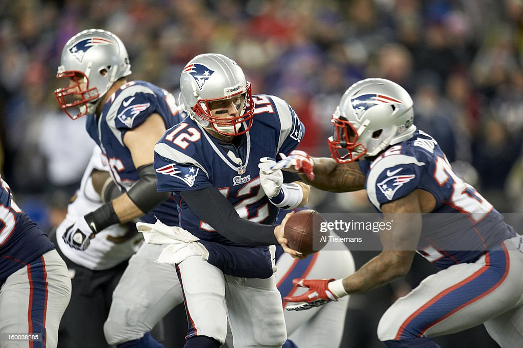 New England Patriots QB Tom Brady (12) in action vs Baltimore Ravens at Gillette Stadium. Al Tielemans F69 )