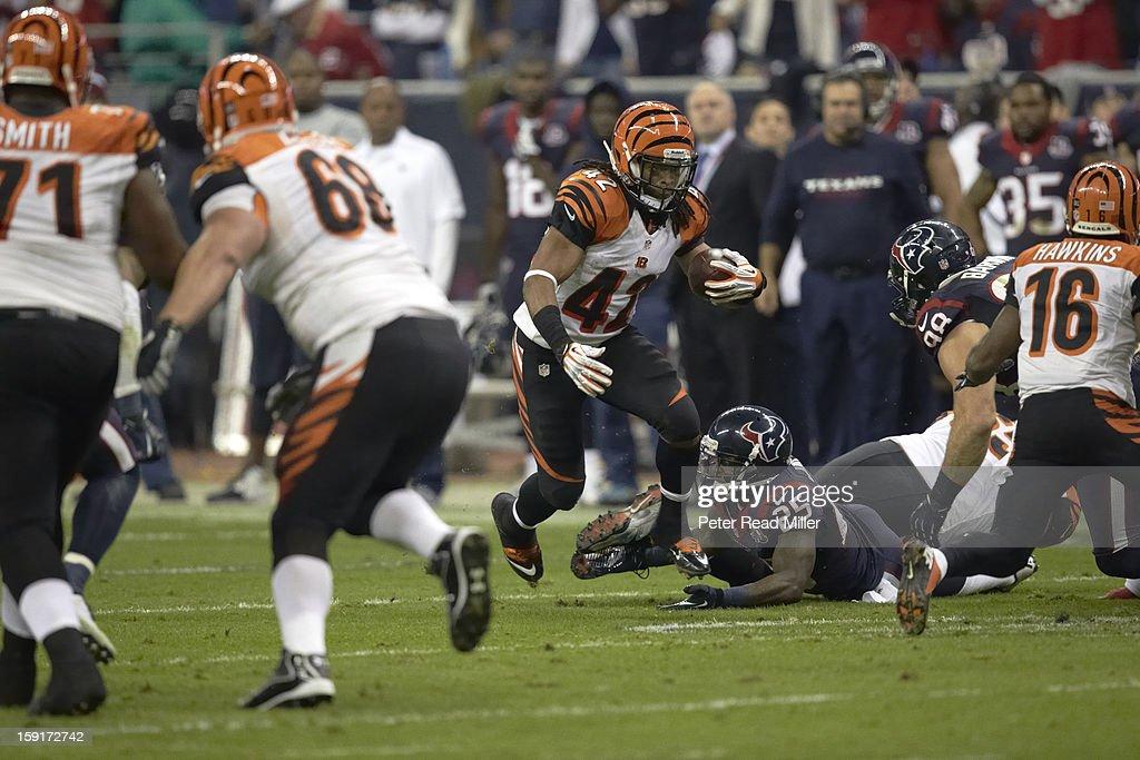 Cincinnati Bengals BenJarvus Green-Ellis (42) in action, rushing vs Houston Texans at Reliant Stadium. Peter Read Miller F803 )
