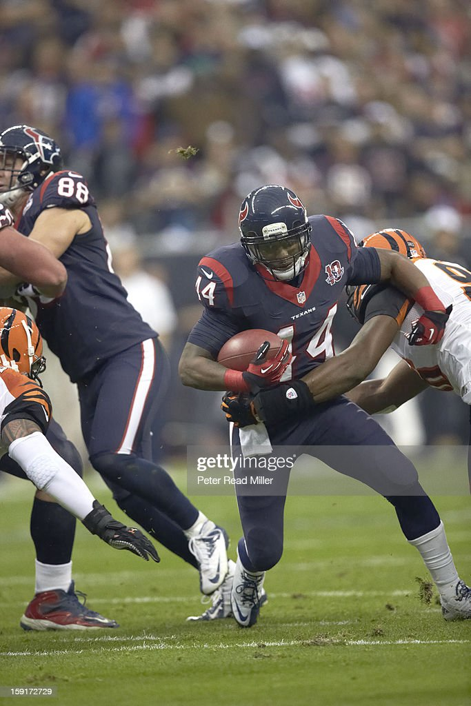 Houston Texans Ben Tate (44) in action, rushing vs Cincinnati Bengals at Reliant Stadium. Peter Read Miller F89 )