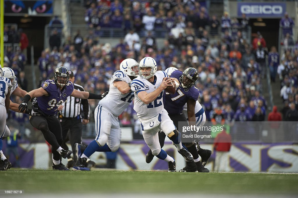 Indianapolis Colts QB Andrew Luck (12) in action vs Baltimore Ravens at M&T Bank Stadium. David Bergman F301 )