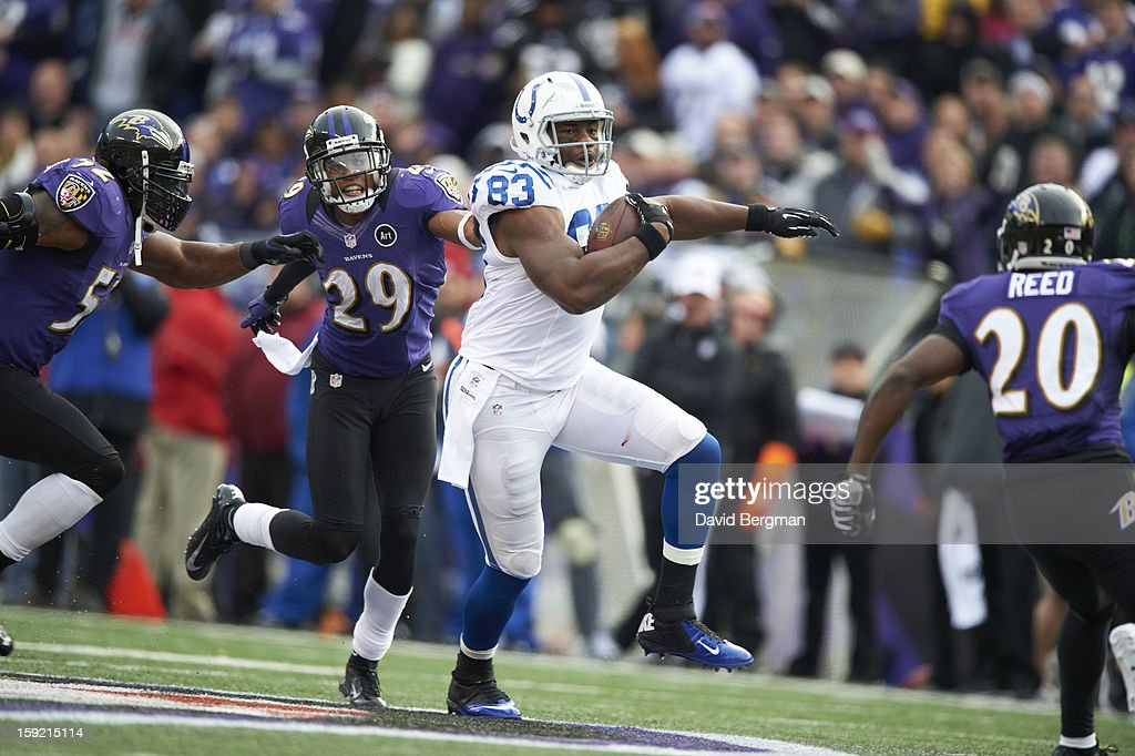 Indianapolis Colts QB Dwayne Allen (83) in action vs Baltimore Ravens at M&T Bank Stadium. David Bergman F513 )