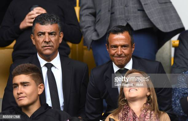 Football agent Jorge Mendes of GestiFute company attends the game during the Sky Bet Championship match between Wolverhampton and Cardiff City at...