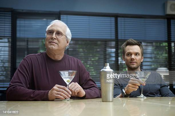 COMMUNITY 'Football and Nocturnal Vigilantism' Episode 309 Pictured Chevy Chase as Pierce Joel McHale as Jeff Photo by Lewis Jacobs/NBC/NBCU Photo...