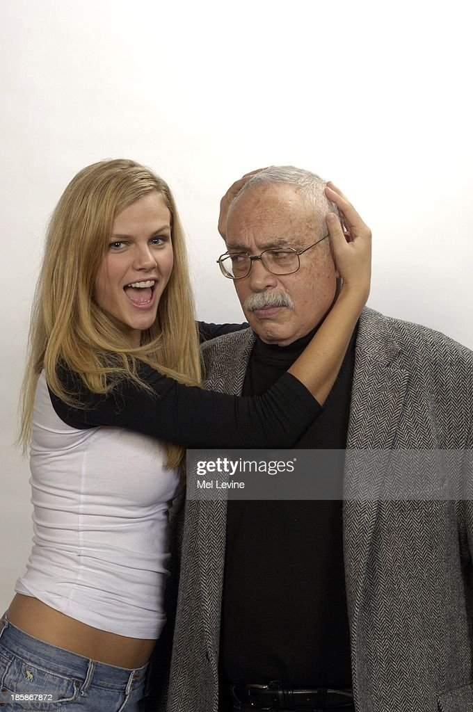 Closeup casual portrait of SI Senior Writer 'Dr Z' Paul Zimmerman and swimsuit model Brooklyn Decker at Time Life Building New York NY CREDIT Mel...
