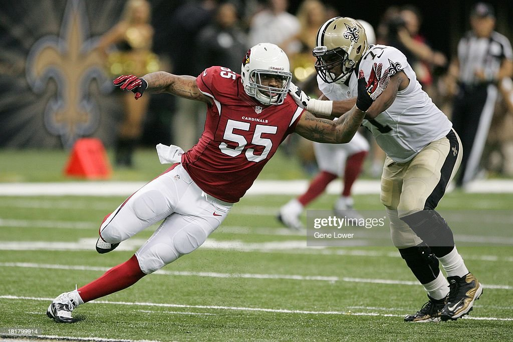 Arizona Cardinals Jasper Brinkley (55) in action vs New Orleans Saints at the Mercedes-Benz Superdome. Gene Lower