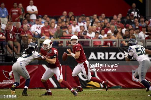 Arizona Cardinals QB John Skelton in action vs Seattle Seahawks at University of Phoenix Stadium Glendale AZ CREDIT John W McDonough