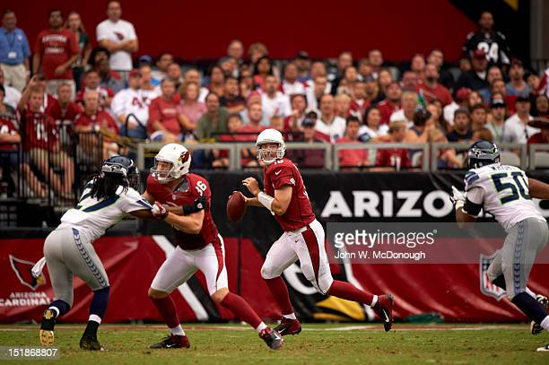 Arizona Cardinals QB John Skelton in action vs Seattle Seahawks at University of Phoenix Stadium Glendale AZ CREDIT John W McDonough